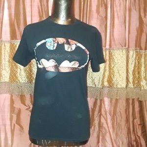 BATMAN DC COMICS Black American Flag T-Shirt Basic
